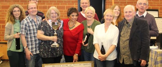 The winners at the Caldicott Rotary Quiz