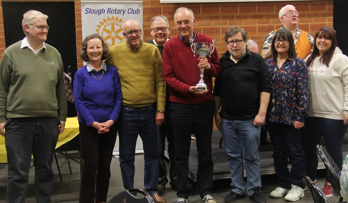 Slough Rotary Quiz 2020 Winners James Heriot Greasy Elbow