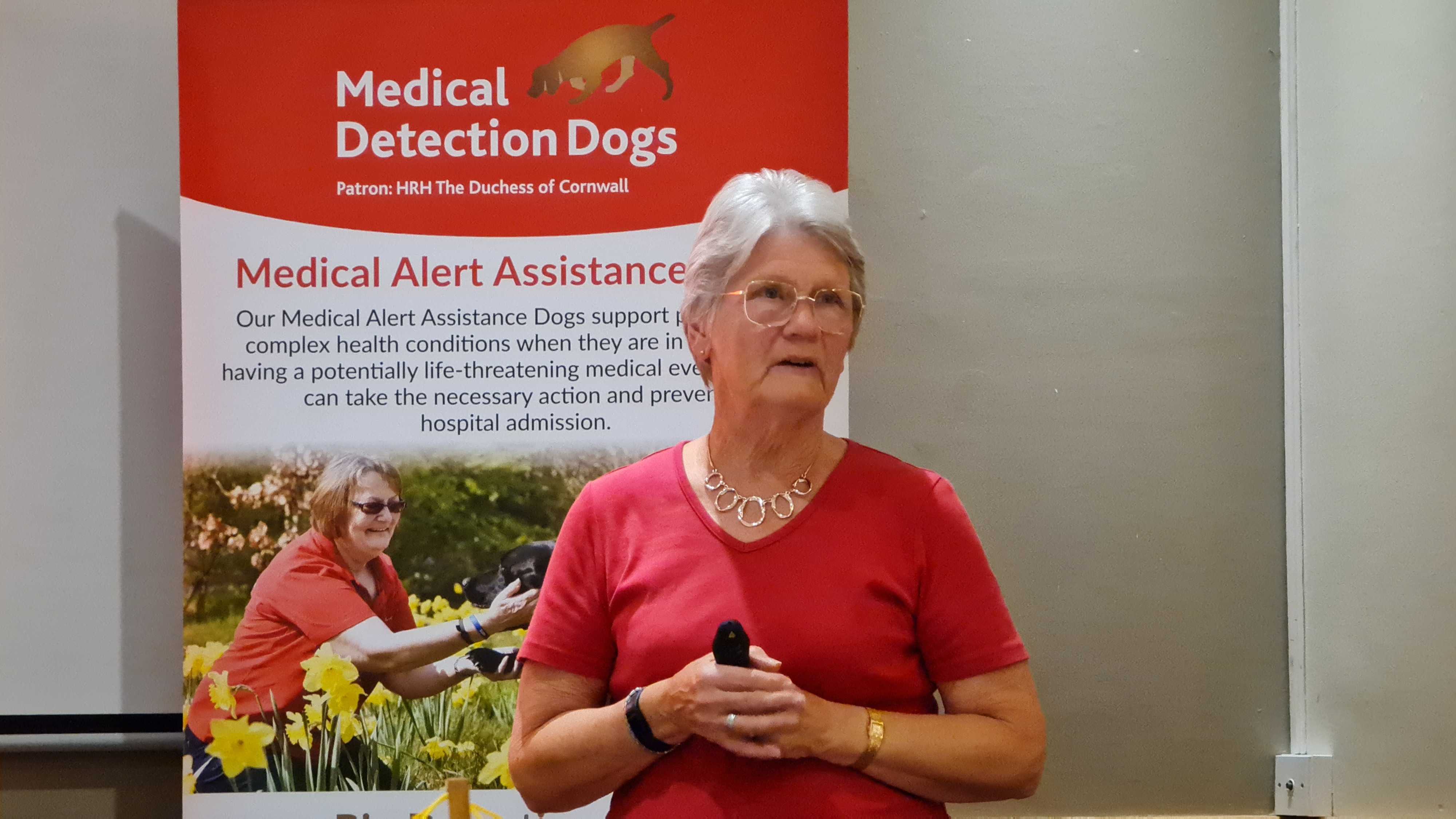 Danielle talks about the fantastic Medical detection dogs