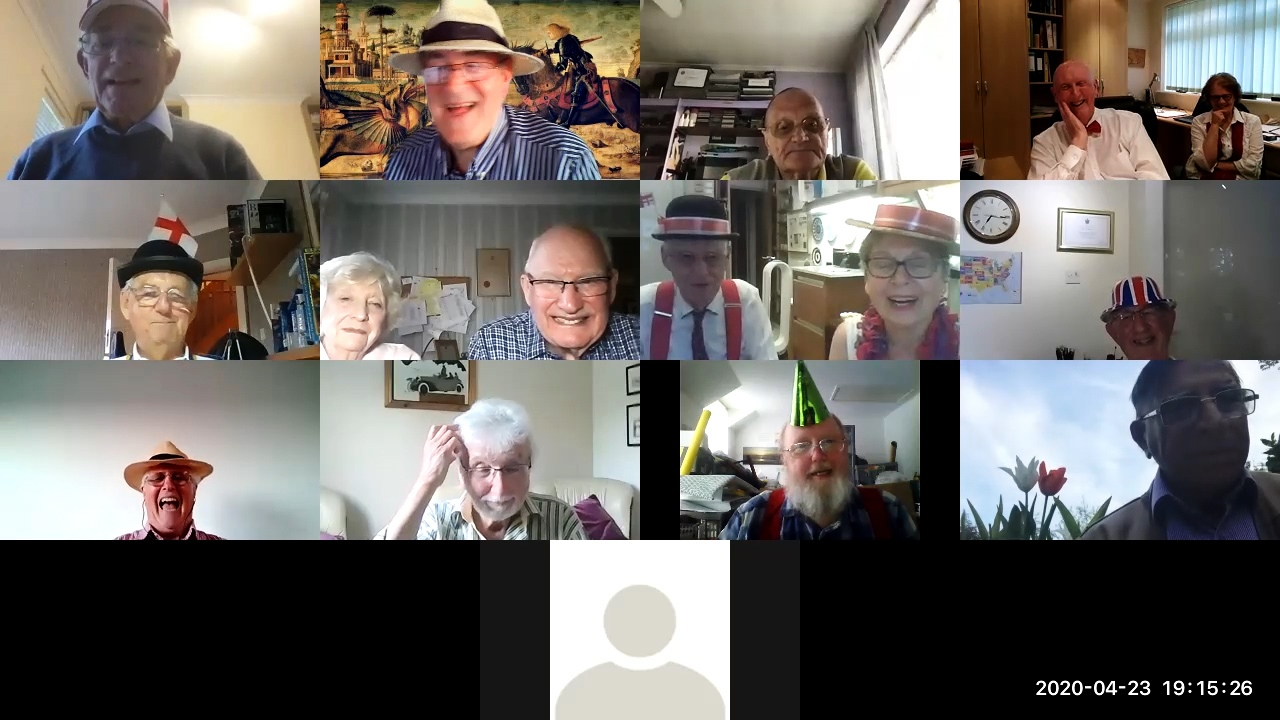 Slough Rotary continue to meet and work via Zoom